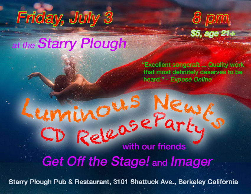 CD Release Party: July 3 at the Starry Plough, Berkeley